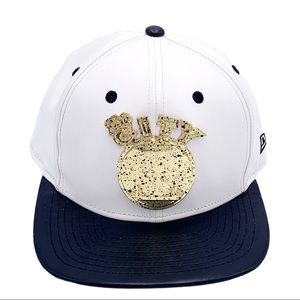 9Fifty Golden State Faux Leather White & Black Hat